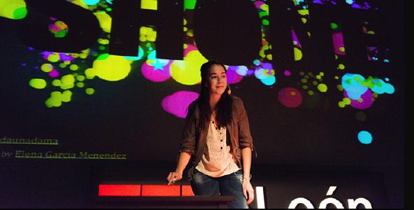 Ines Arroyo speaking at TEDxLeon