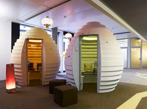A real life Google hangout: meeting rooms at a Google campus
