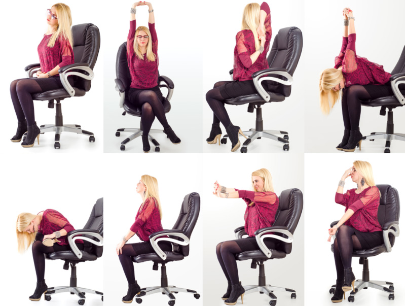 simple desk yoga poses that won't freak out your coworkers - new